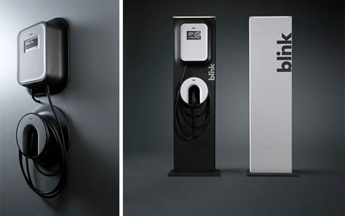 Blink Electric Vehicle Charging Station Looks Better Than Any Gas Pump
