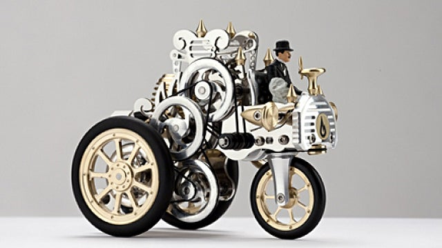 This Steampunk Model Car Is Powered By A Beautiful 19th Century Air Engine