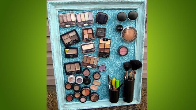 DIY Makeup-Organizing Magnetic Board