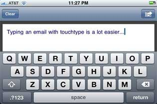 TouchType Allows for Landscape Writing in iPhone Mail