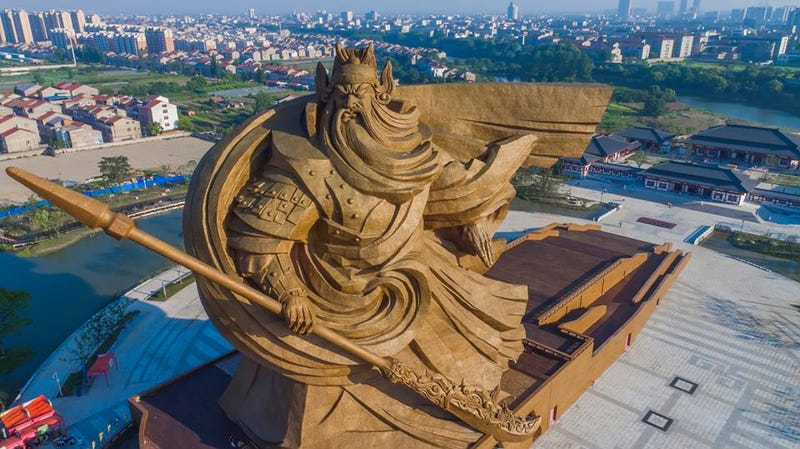 This Statue for a Chinese Warrior Is Very Probably the Most Badass Statue Ever