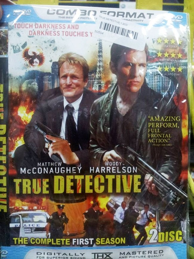This Bootleg DVD Cover of True Detective Is Completely Astounding