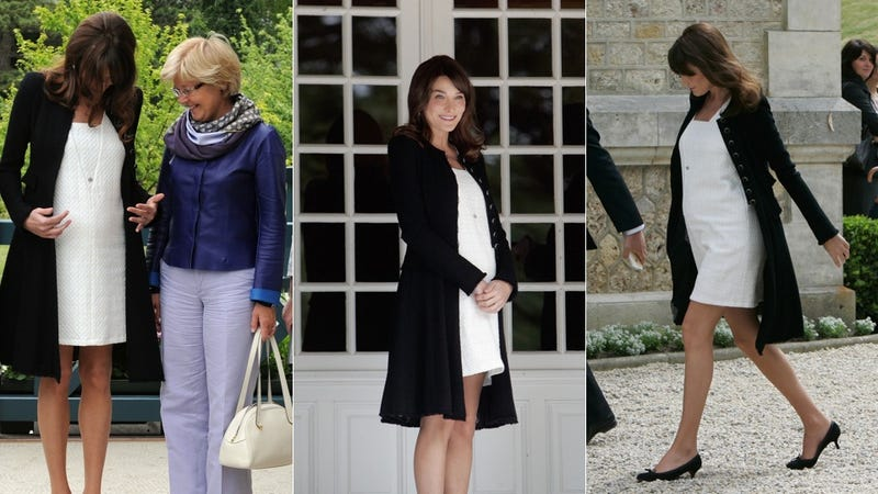 Carla Bruni-Sarkozy Unveils State Secret: Her Baby Bump
