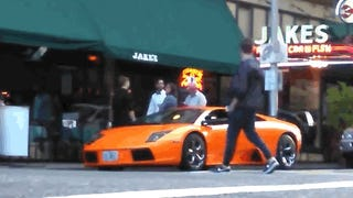 Portland BMX Rider Casually Jumps Over Parked Lamborghini