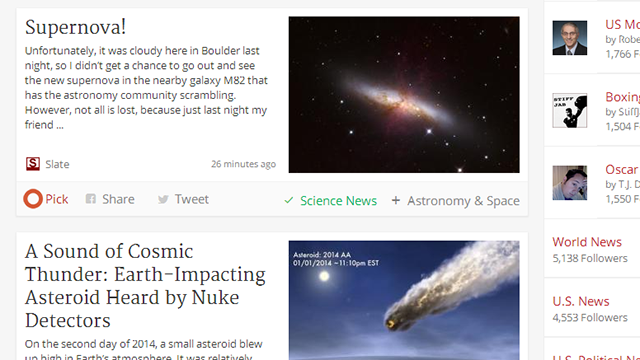 Trove Provides Curated and Lightweight News Reading