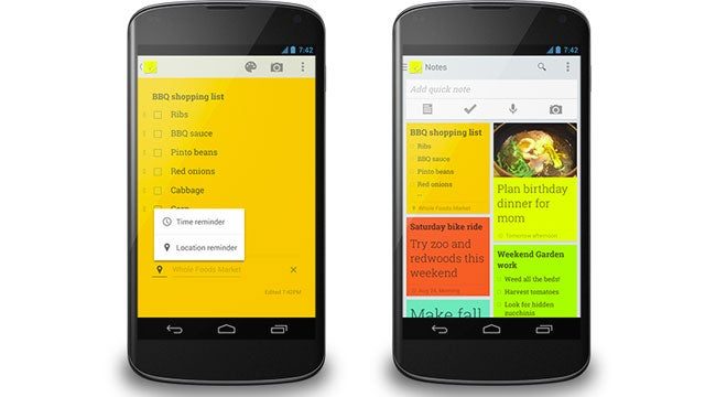 Google Keep Adds Reminders So You'll Never Forget to Act on Your Notes