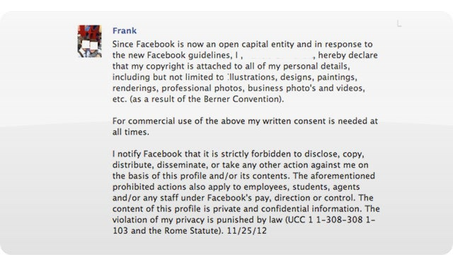 That Facebook Copyright Notice Is Worthless