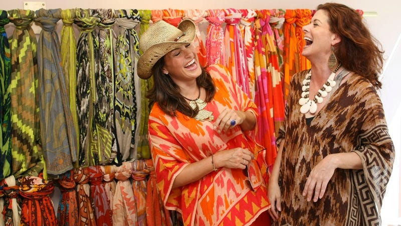 Mariska Hargitay And Debra Messing Find Textiles Hilarious