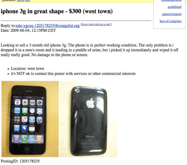 Pee-Tarnished iPhone For Sale, Come and Get It!