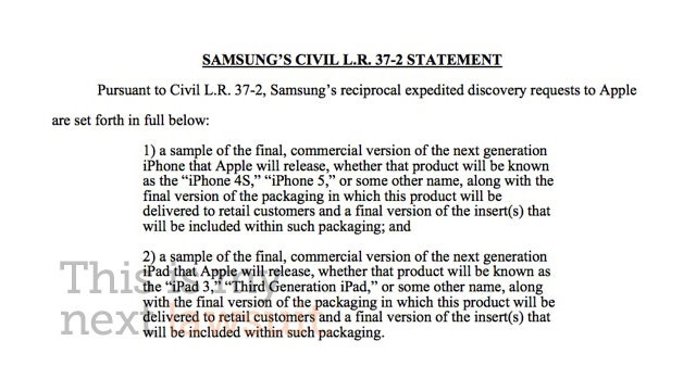 Samsung Demands To See the iPhone 5 and iPad 3 In Court