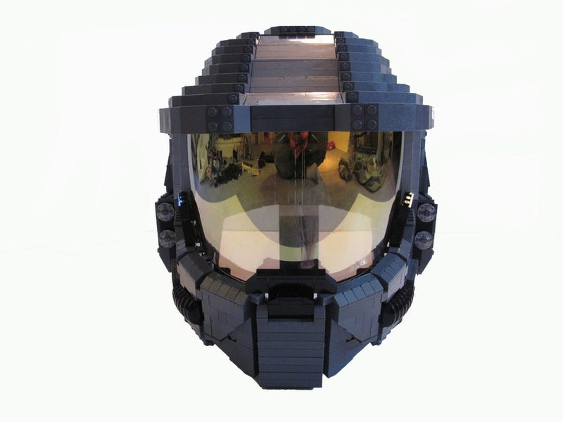 This LEGO Master Chief Is so Big He Has a Human Inside Him