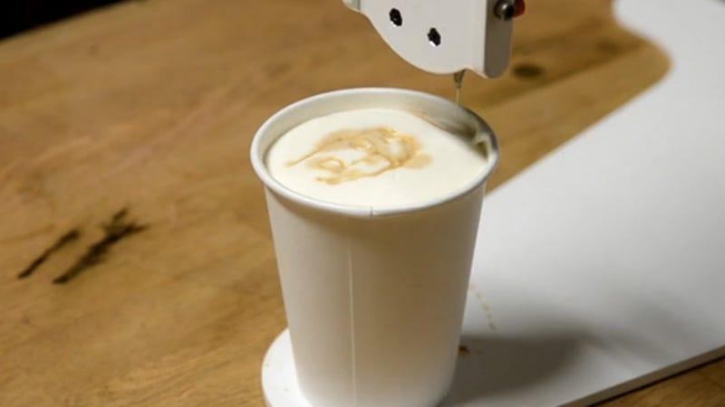 Barista Bot Paints Your Portrait On Your Latte
