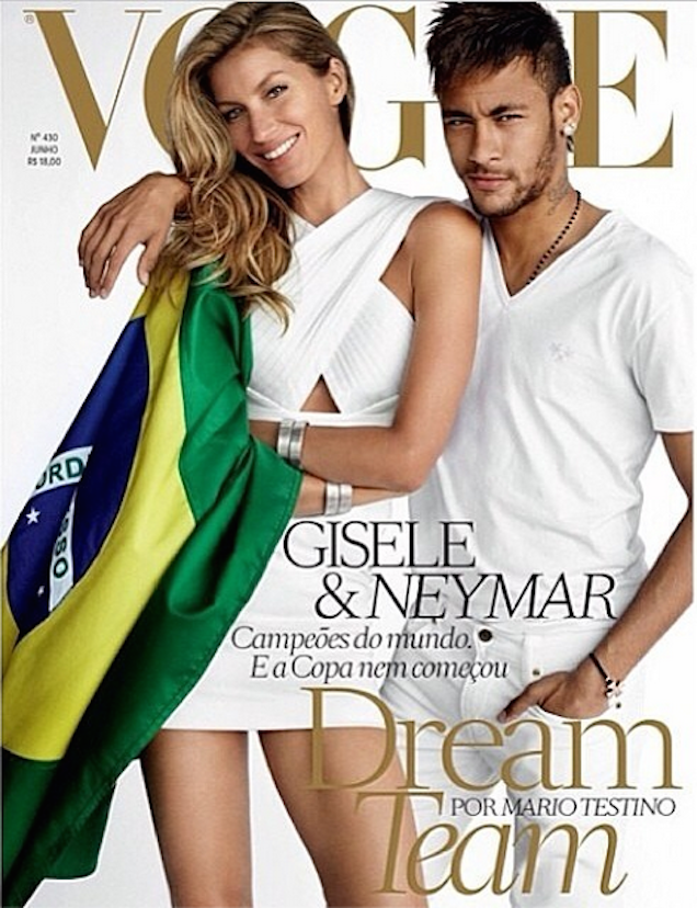 Neymar And Gisele Are On Vogue Brasil Cover, Aren't Butt-Ass Naked