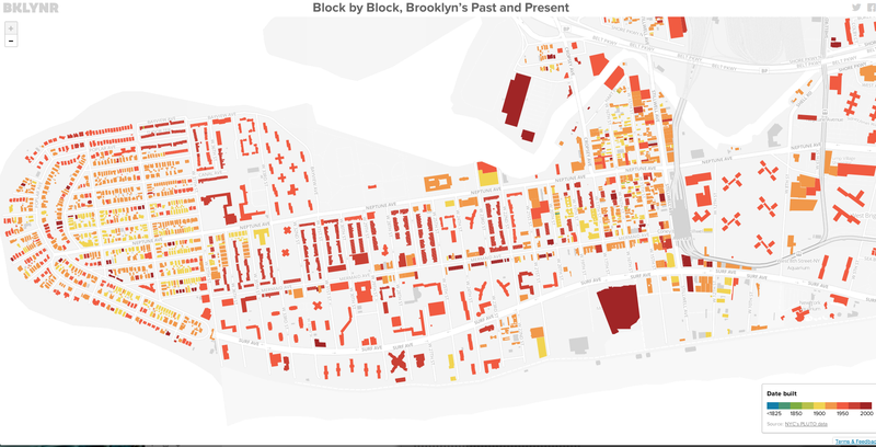 This Interactive Map of Brooklyn Colors Every Building According to Age