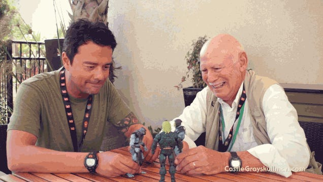 Skeletor's Voice Actors Play With Skeletor Action Figures