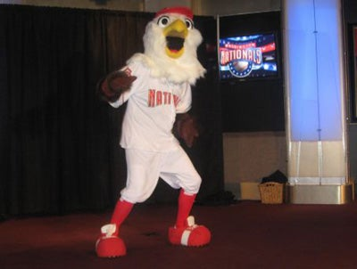 The Nationals' Mascot Has A New Look! (Oh, Heavens)
