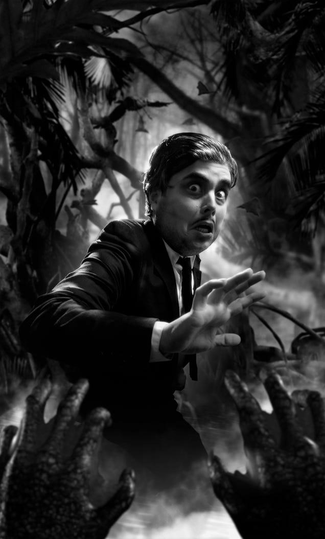 Optical illusion GIFs make classic horror characters three-dimensional