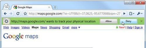 Disable Google Chrome's Location-Aware Browsing
