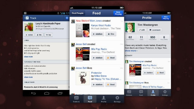 Pandora Brings Activity Streams, Profile Pages, and Social Sharing to Its iPhone and Android Apps