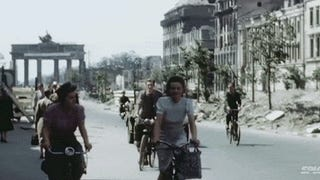 Stunningly restored color footage of Germany in 1945 right after WWII
