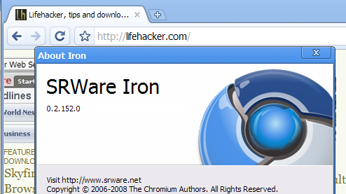 Iron Is Google Chrome for the Tinfoil Hat Crowd