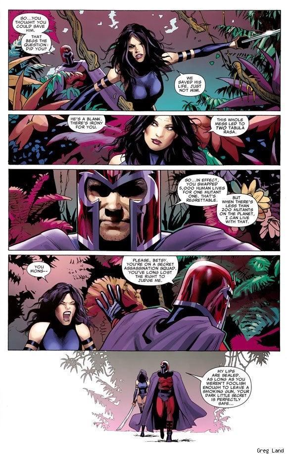 Art and Superheroines: Psylocke as Drawn by Greg Land vs. Jerome Opena