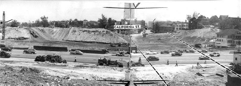 How Los Angeles Erased Entire Hills From Its Urban Core