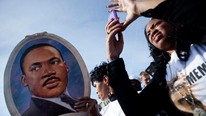 Scenes From Today's Martin Luther King Memorial Dedication