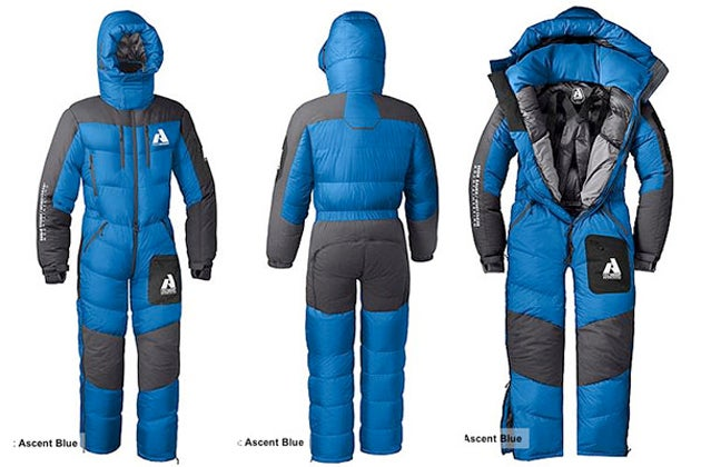 mount everest climbers can wear this sleeping bag suit of. Black Bedroom Furniture Sets. Home Design Ideas