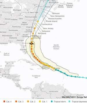 Keep Tabs on Hurricane Irene with These Tracking Maps and Smartphone Apps