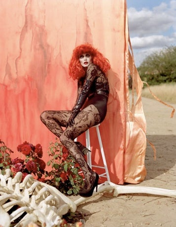 Tim Burton Plays Dress Up in Harper's Fashion Spread