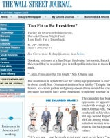 WSJ Backtracking From Sketchy 'Beanpole' Obama Story