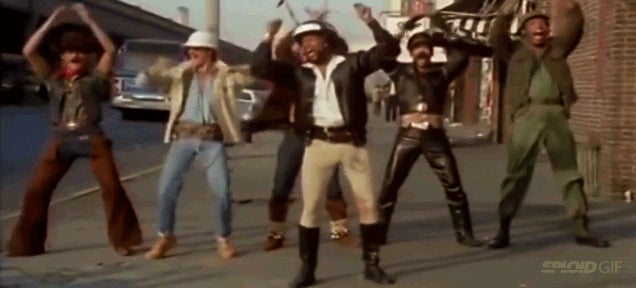 YMCA music-less video make the Village People look even more ridiculous