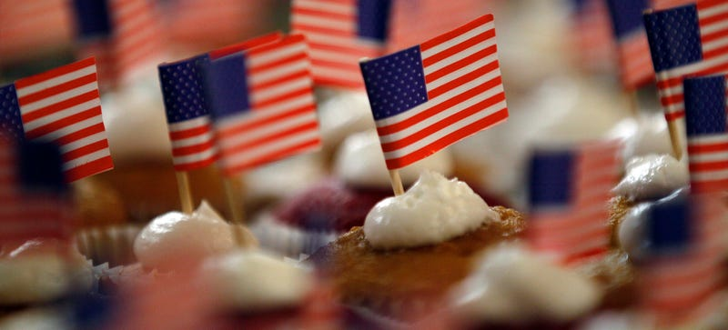 Technically, American flag napkins are illegal