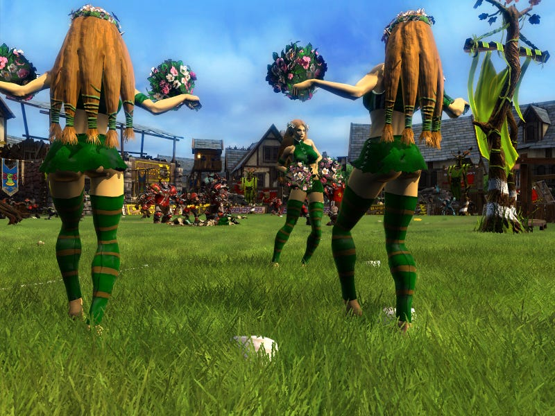 Blood Bowl Cheerleader Battle: Wood Elves Versus Chaos