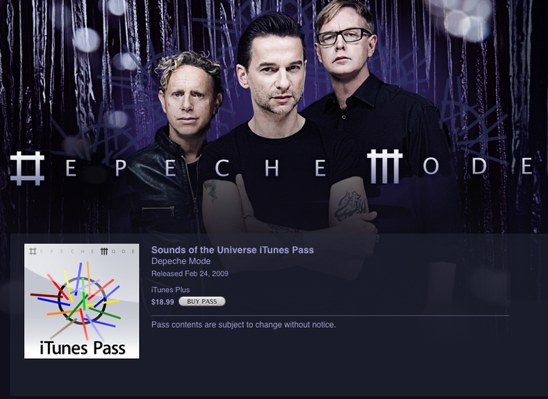 Apple and EMI Roll Out iTunes Pass Mini-Subscription For...Depeche Mode?