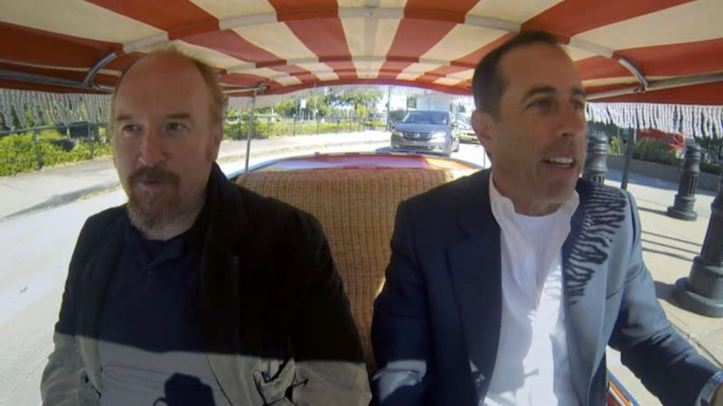 Watch Jerry Seinfeld And Louis CK Ride In The Cutest Car Ever Made