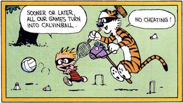 The Calvinball Theory of Building a Mythological World