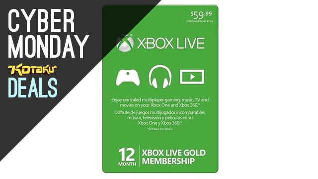 Xbox LIVE Gold 1 Year Subscription For $35
