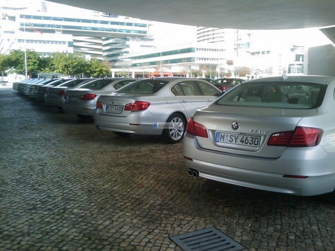 2011 BMW 5 Series Lines Up With Ancestors In First Real-Life Photos