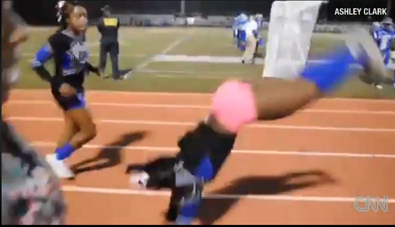 Cheerleader Does 44 Back Handsprings in 34 Seconds, Is Made of Magic