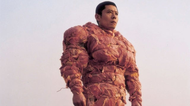 Suit of meat armor offers +5 protection against vegetarians