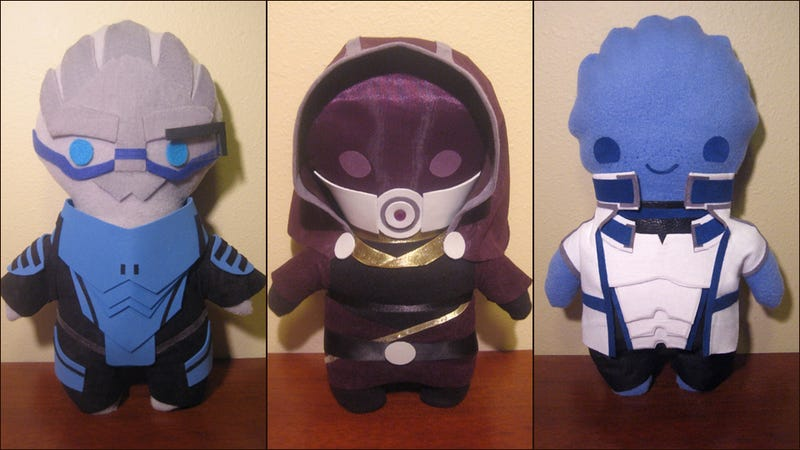 The Cutest, Cuddliest Krogan (and Turian, and Asari) You Ever Will See