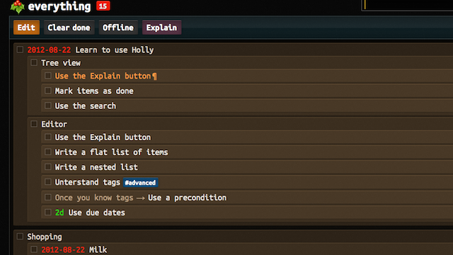 Holly Is a Web-Based To-Do Manager for People Who Love the Command Line