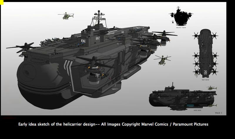 Here's your first look at the SHIELD Helicarrier from the Avengers