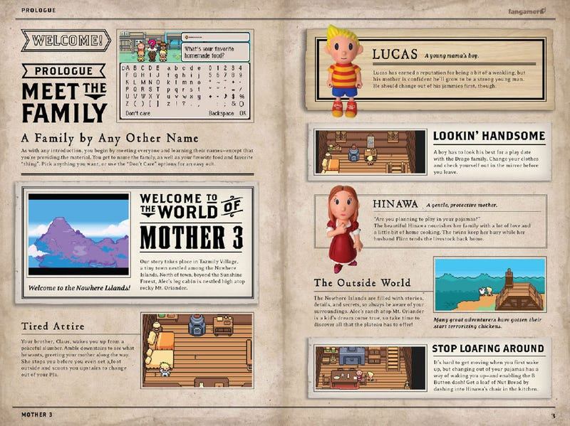 Mother 3 Handbook Will Blow Your Baby Blue Socks Off