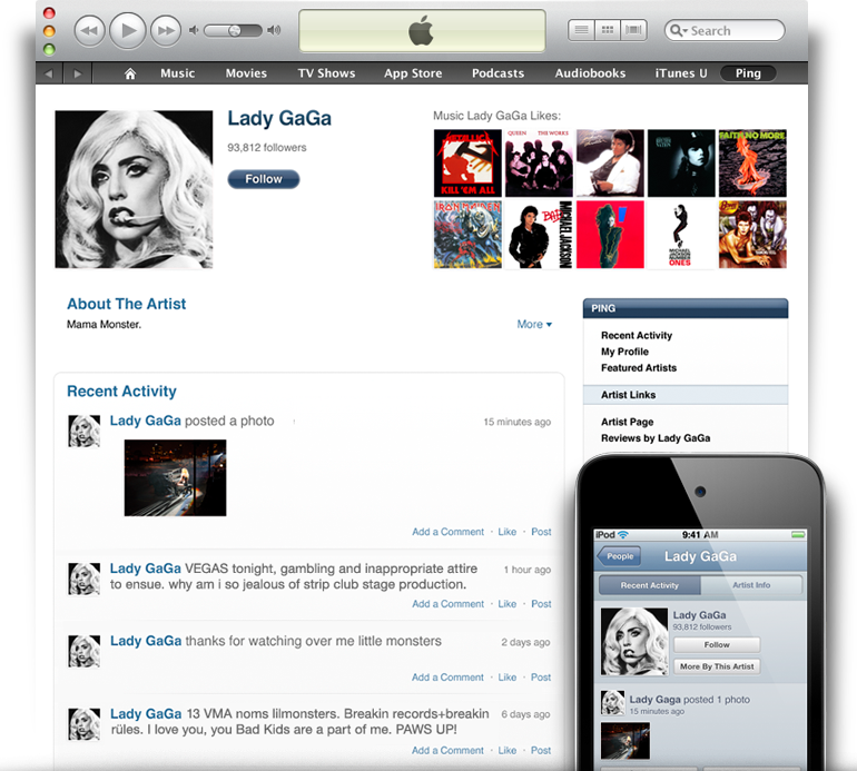 iTunes 10 Is All About Ping, Apple's Social Network for Music