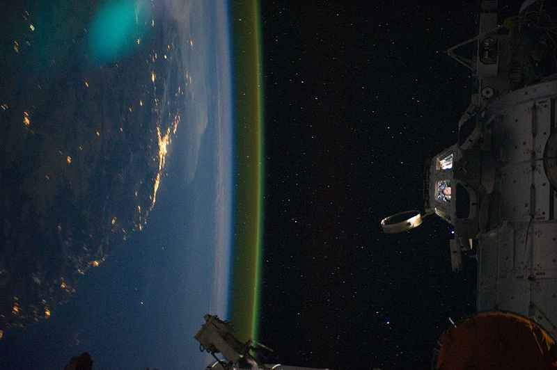 Holy crap! Why is the Earth glowing green?