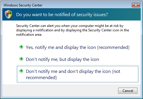 "Windows Vista Tip: Disable annoying ""Need your permission to continue-"" prompts"
