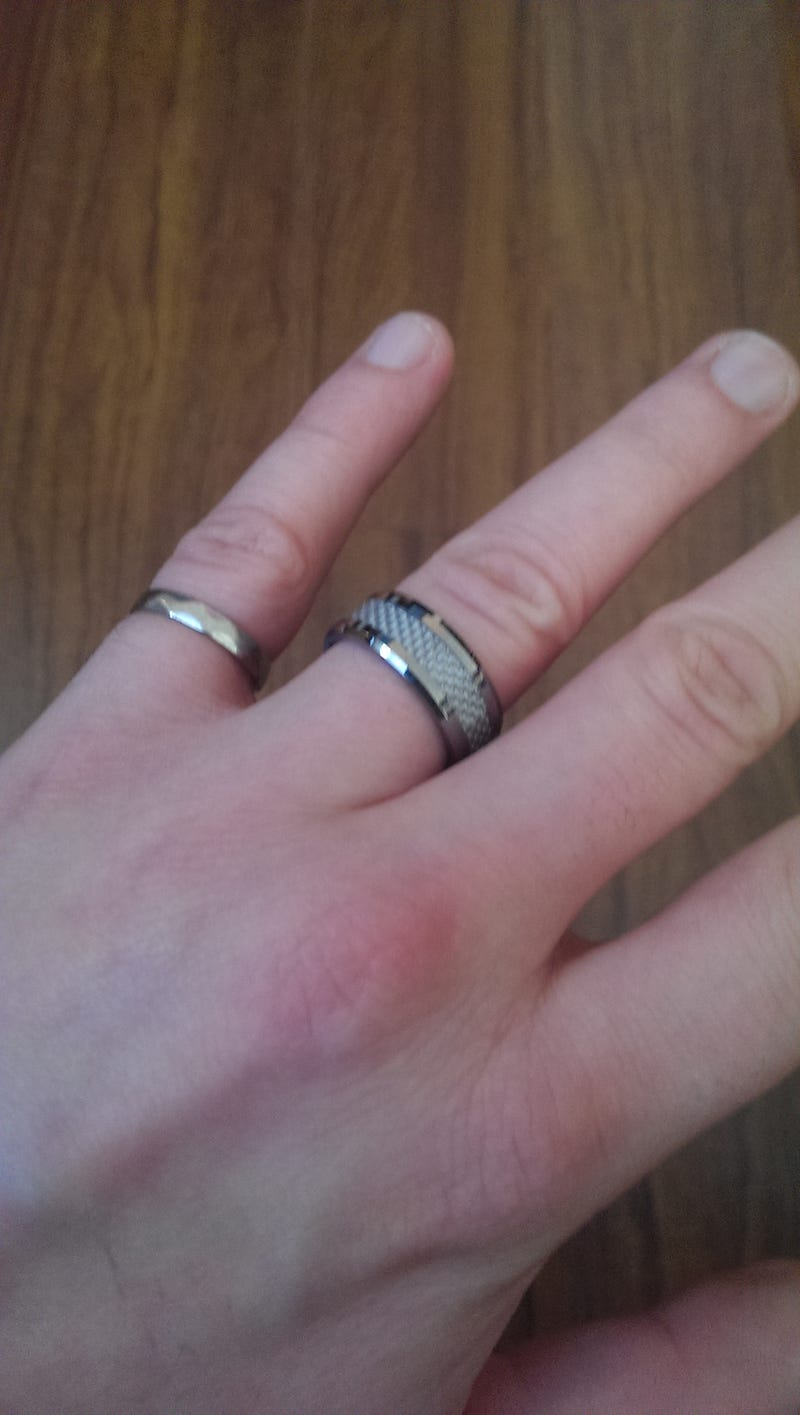 Wedding band came in today :D